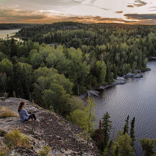 Catching the sunset on a cliff overlooking Tulabi Lake. Not a bad way to spend the last days of summer vacation. 🌅
