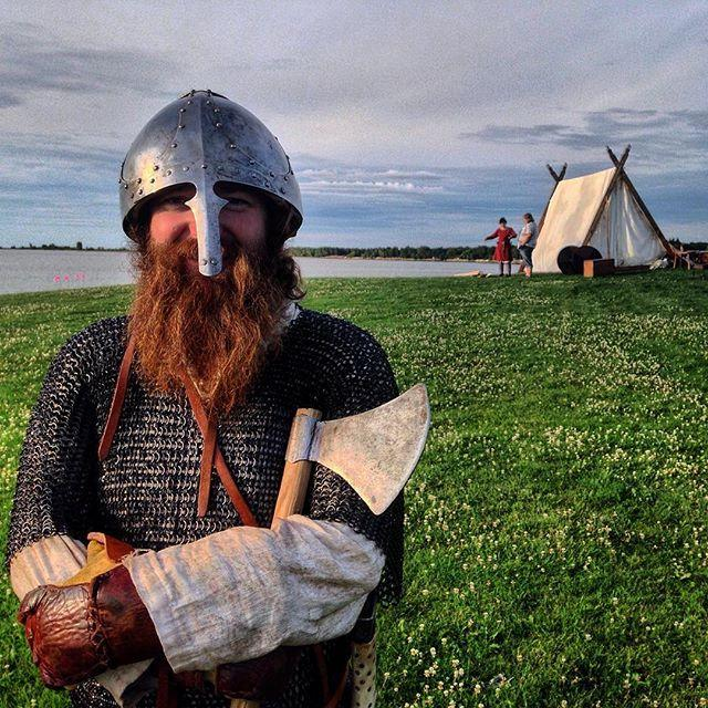 A Viking at the Manitoba Icelandic Festival stopped mid-skirmish to pose for a picture. #pegcityportraits #exploremb